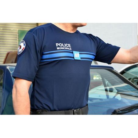 TEE-SHIRT COOLMAX COL ROND POLICE MUNICIPALE